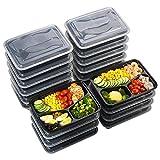 Sable Meal Prep Container Set [20er Pack] 3-Fach, Behälter zur Vorbereitung von Essen, BPA-frei Bentoboxen mit DREI Bereichen, Lunch Box Set mit Deckel, wiederverwendbar, Mikrowellengeeignet
