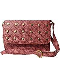 Attire Fancy Stylish Elegance Fashion Designer Sling Bag For Women & Girls(Maroon)