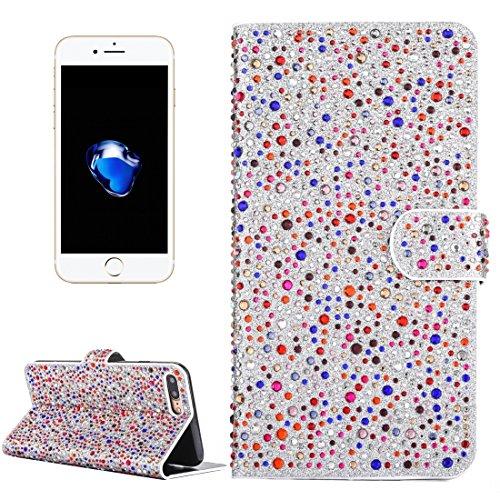 Hülle für iPhone 7 plus , Schutzhülle Für iPhone 7 Plus Raindrops Pattern Horizontale Flip Leder Tasche mit Halter & Card Slots ,hülle für iPhone 7 plus , case for iphone 7 plus ( Color : Pink ) Dark red