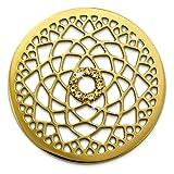 Amello Edelstahl Coin Lotusblume vergoldet Zirkonia Schmucksteine gold Damen Stahlschmuck ESC532YY