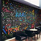 SKTYEE Large Custom Wallpaper Colored Styles Mathematical Formula Blackboard Mural Backdrop Decoration,300x210 cm (118.1 by 82.7 in)