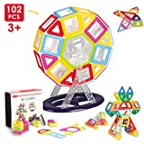 Building Blocks Miric Magnetic Set 102 PCS Mini Kit Construction Stacking Christmas Gift Toy Kids Over 3 Years Old