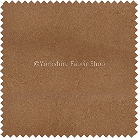 Paris Fawn Natural Soft Faux Leather PU Grain Finish Look Upholstery Material Headboards Beds Sofas Cushions by Yorkshire Fabric Shop