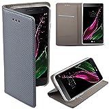LG Zero Flip case Grau - Moozy® Dünne magnetische