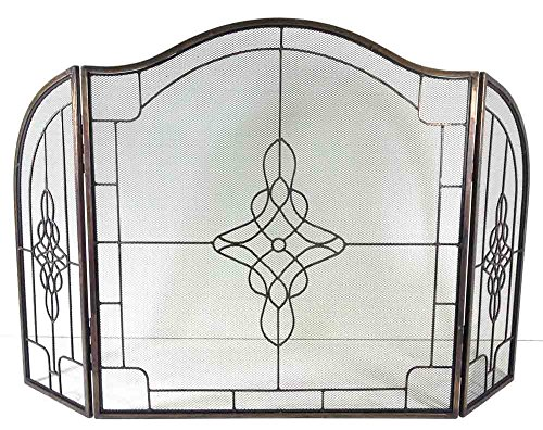 Grande decorativo antico filigrana Griglia 3Fold Parascintille