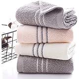 Juegos de Toallas 3 Toallas de Mano Toallas de baño 34 * 74 cm Toallas de algodón 100% Rosa, Blanco, Gris toallitas Toallas a