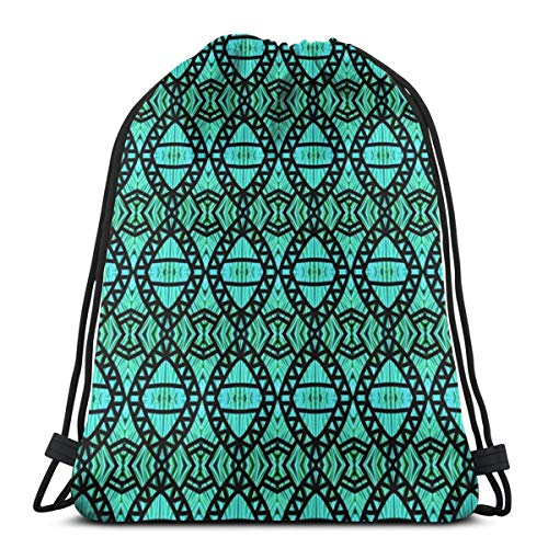 vintage cap Shark Jaws Aqua Black_45254 3D Print Drawstring Backpack Rucksack Shoulder Bags Gym Bag for Adult 16.9