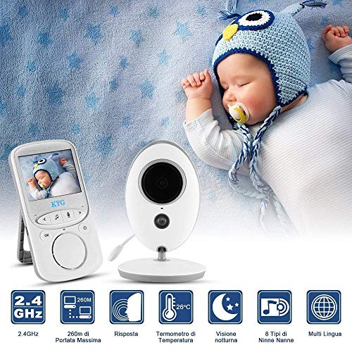 Imagen para Vigilabebés con Cámara Inalámbrico Monitor para Bebés con LCD 2.4