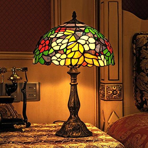 Gweat Tiffany 12 pollici stile pastorale di vetro macchiato a colori da...