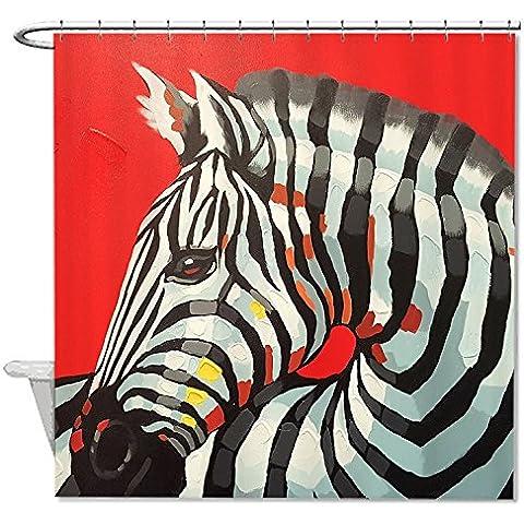 whiangfsoo Stylis Natale Zebra bagno Decro Tenda da doccia impermeabile,