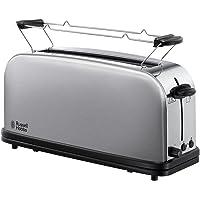 Russell Hobbs 21396-56 Toaster Grille-Pain Adventure, Fente Large Spécial Baguette, 6 Niveaux de Brunissage, Fonction Décongèlation - Inox