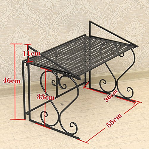 aishn stabiles mikrowellen regal aus metall storage racks teflon select processing decoration. Black Bedroom Furniture Sets. Home Design Ideas