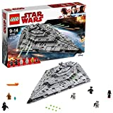 LEGO 75190 Star Wars Episode VIII First Order Star Destroyer, 5 Minifigures plus BB-9E droid figure, Build and Play Star Wars Toy