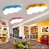 LYXG Kreative Cartoon Wolken Licht reizendes Baby Kinderzimmer helle und freundliche Zimmer für Jungen und Mädchen an der Decke lampe leuchtet (500*330*80mm) 28W, weiß und blau