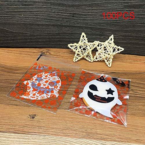 lastik Klar DIY Candy Kekse Tasche Halloween Pumpkin Geist Geschenke Taschen Halloween-Party Handwerk - #2 ()