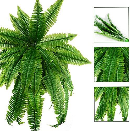 Künstliche Farnblätter, 1 Stück künstliche Persische Blätter, künstliche Hängepflanzen, Zuhause, Küche, Garten, Büro, Hochzeit, Wanddekoration