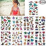 b0dfc81f31 SouthStar Tatuajes Temporales para Niños Niñas, 9 Hojas Dibujos Animados  Animales Perfecto para piñata Niños