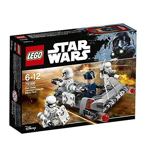 LEGO - 75166 - Star Wars - Jeu de Construction - Pack de combat le Speeder de transport du Premier Ordre