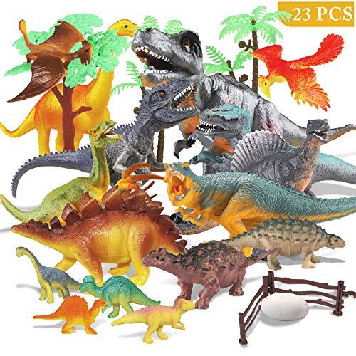 Estela Joylink Dinosaur Set,17 PCS Realistische Figur Modell, Spielzeug Kindergeburtstag Party Dekoration,Die Vier Kleinen Dinosaurier IST zufällig