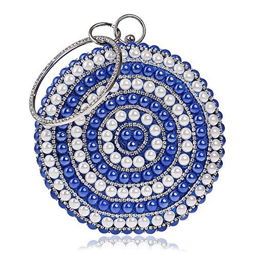Die Neue Frau, Luxus, Diamanten - Koffer, Taschen, Abends, Hand - Tasche blue
