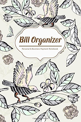 Bill Organizer: Hand Drawn Birds on the branches Personal, usado segunda mano  Se entrega en toda España