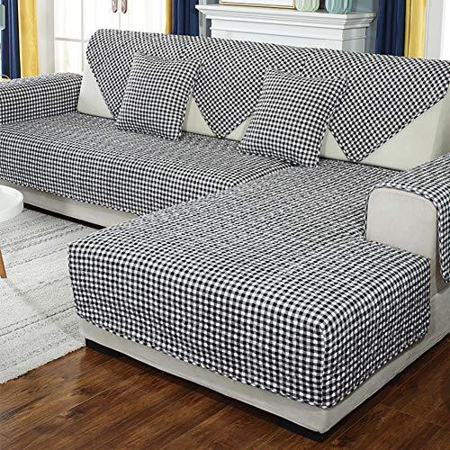 SO&FN Einfache Sofa Überwürfe, Dicke Anti-rutsch Sofabezug Vier Jahreszeiten Möbel Protektor Stretch Couch Abdeckungen Schnitt Für Pet Hund-c 110x240cm(43x94inch) (Couch Pet-abdeckung)