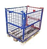 7x Gitter-Aufsatzrahmen 120x80x80 (für Paletten) Gitterbox Palettenrahmen Gitteraufsatzbox Behälter Stapelbehälter