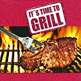40 Servietten It's time to grill (It's time to grill) Grill Party1/4 gefalzt, 3-lagig Größe offen: 33x33