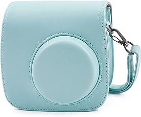 Leebotree Tasche für Fujifilm Instax Mini 9, Schutztasche aus Weichem Kunstleder mit Schulterriemen und Tasche für Fujifilm Instax Mini 8 8+ / Mini 9 Sofortbildkamera (Ice Blau)