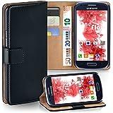 Samsung Galaxy S3 Mini Hülle Schwarz mit Karten-Fach [OneFlow 360° Book Klapp-Hülle] Handytasche Kunst-Leder Handyhülle für Samsung Galaxy S3 Mini S III Case Flip Cover Schutzhülle Tasche