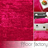 floor factory Exklusiver Hochflor Shaggy Teppich Satin rosa