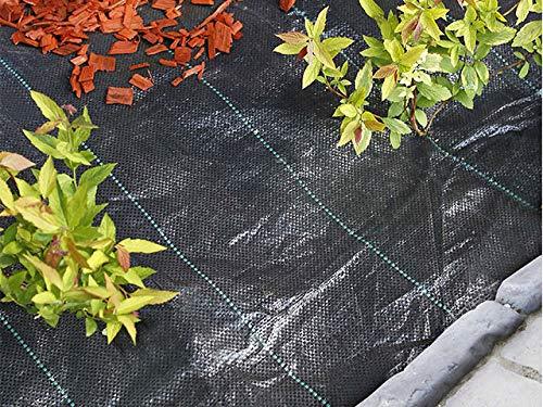 Nature Toile de paillage Paysage Noire en polypropylène tissé 100gr/m² 5,25x100m