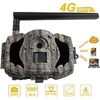 """BolyGuard 4G 36MP 1080P Caméra de Chasse de Vision Nocturne Activé 2,3"""" Chasse et Affichage GPRS MMS Détection de Disque…"""