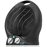 Cecotec Calefactor Eléctrico de Baño Bajo Consumo Ready Warm 9500 Force Vertical de 2000 W, Termostato Regulable, 3 Modos, Pr