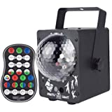 ADDCOOL 60 Patterns LED Party Laser Lights DJ Disco Ball Stage Light Sound Activated Led Projector with Remote Control for Ch