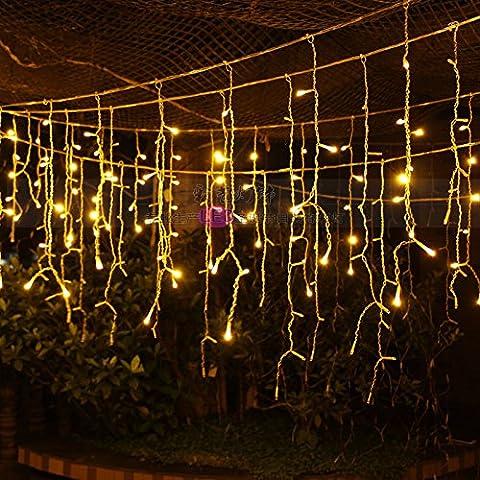 Illuminazione per esterni per case Natale Decorazioni Patio luci LED tensione 220V,bianco caldo 4 m ghiacciolo luce