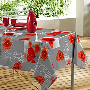 wetterfeste outdoor wachstuch tischdecke great poppies mit wundersch nen mohnblumen. Black Bedroom Furniture Sets. Home Design Ideas