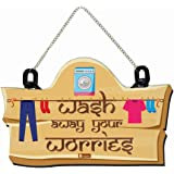 Indigifts Laundry Room Door/ Wall Hanging 8x12.5 Inches Signboard - Laundry Room Sign Board, Laundry Wall Décor