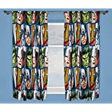 Character world 72-Inch Disney Marvel Avengers Shield Curtains, Multi-Colour