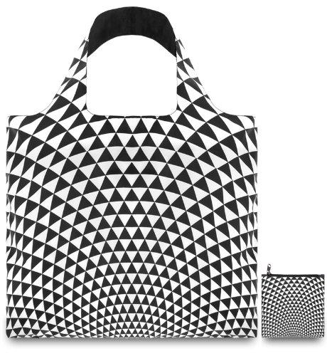 Zip-französisch Geldbörse (LOQI Pop Einkaufstasche / Reisetasche Reise-Henkeltasche, 50 cm, Prism)