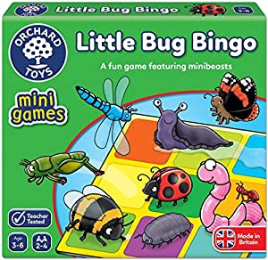 Orchard_Toys Little Bug Bingo Mini - Juego de Viaje
