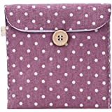 Oksale Girl Women Cute Cotton Diaper Sanitary Pad Napkin Package Holder Case Mini Coin Storage Bags (Purple)