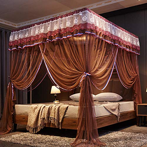 Zanzariera - acciaio inox staffa estiva zanzariera 1.8-2.0 biancheria da letto da 1,8 m (6 piedi) letto