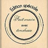 Florilèges FB 108061 timbro disegno scrapbooking, fatto a mano, beige con carillon, 4 x 4 x 2,5 cm