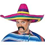 Guirca 13612–Sombrero mexicano multicolor de paja, talla única