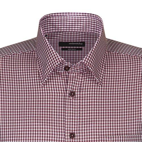 Seidensticker -  Camicia classiche  - A quadri - Con bottoni  - Uomo Rot