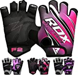 RDX Fitness Handschuhe Damen Trainingshandschuhe Frauen Crossfit Handgelenkstütze Sporthandschuhe Gewichtheben Krafttraining Workout Bodybuilding Gym Gloves