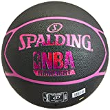 Spalding NBA Highlight Ballon de Basket Femme, Noir/Rose Fuchsia, 6