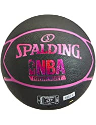 Spalding NBA Highlight 83-581Z Balón de Baloncesto, Mujer, Negro / Fucsia, 6