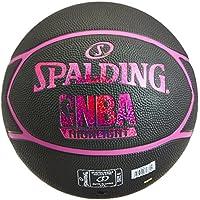 Spalding NBA Highlight 83-581Z Balón de Baloncesto, Mujer, Negro/Fucsia, 6